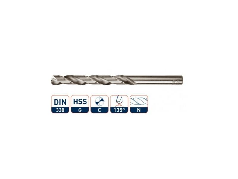 HSS-G spiraalboor, DIN 338, type N, geslepen