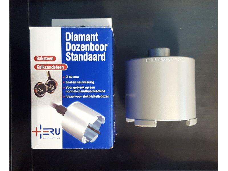 Heru diamant dozenboor 82 mm 4 segm. type standaard.